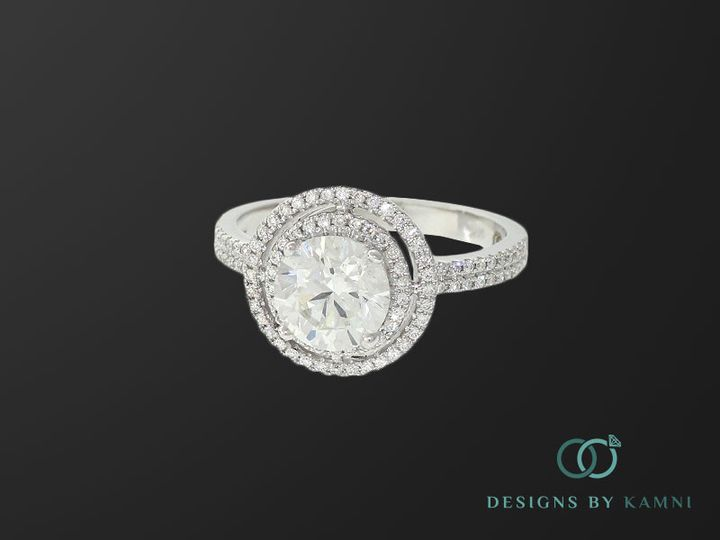 Tmx 1418176809075 Double Halo 1 Hicksville, NY wedding jewelry