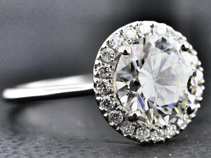 Tmx 1418176856599 Round Halo Plain Shank Hicksville, NY wedding jewelry