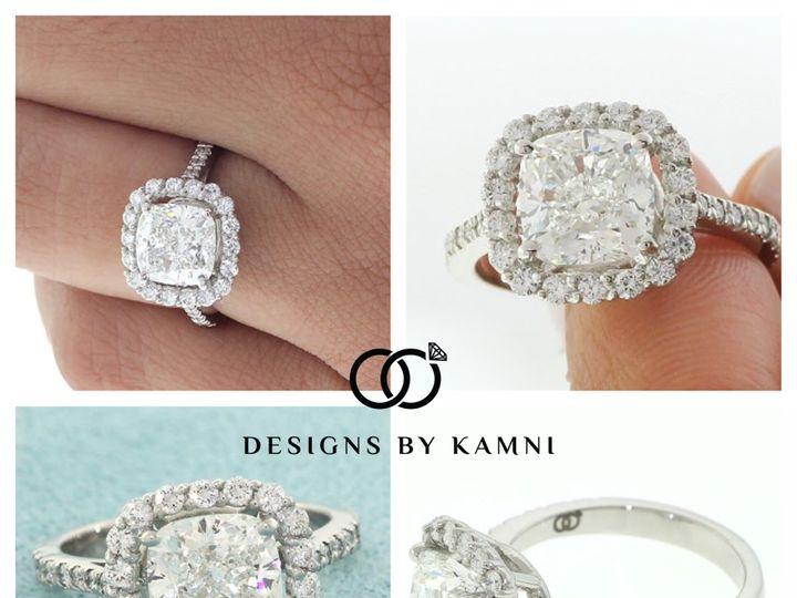 Tmx 1418176945687 Cushion With Halo Kt Hicksville, NY wedding jewelry