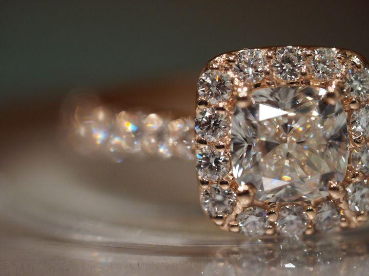 Tmx 1418176983831 Rose With Halo Cushion Hicksville, NY wedding jewelry