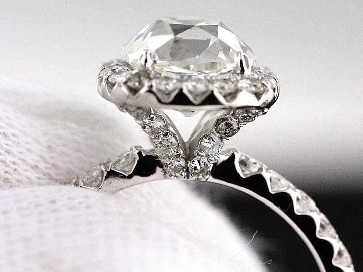 Tmx 1418176989357 Cushion With Diamonds All Over Hicksville, NY wedding jewelry
