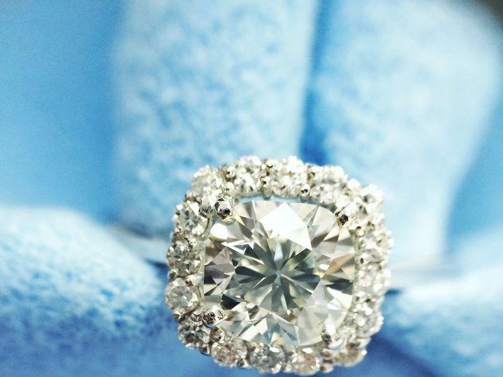 Tmx 1418176997893 Floating Cushion With Halo 3 Hicksville, NY wedding jewelry