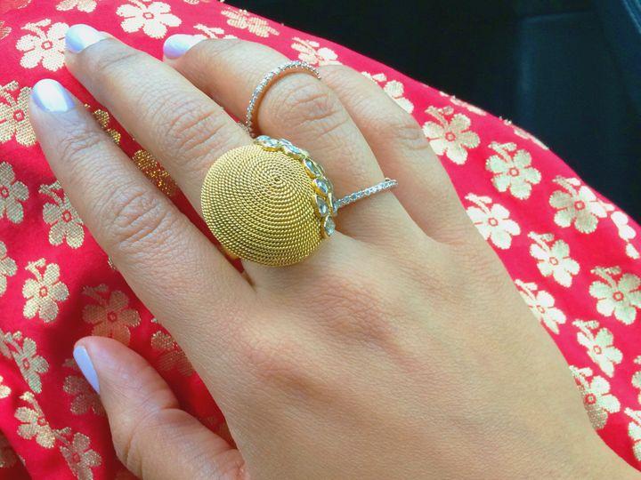Tmx 1418177098399 22k Statement Ring  Chain Ring Hicksville, NY wedding jewelry