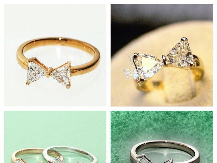 Tmx 1418177111964 Bow Tie Rings 3 Hicksville, NY wedding jewelry