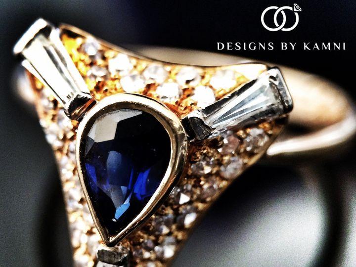 Tmx 1418177136581 Vintage 18k Sapphire Ring Hicksville, NY wedding jewelry