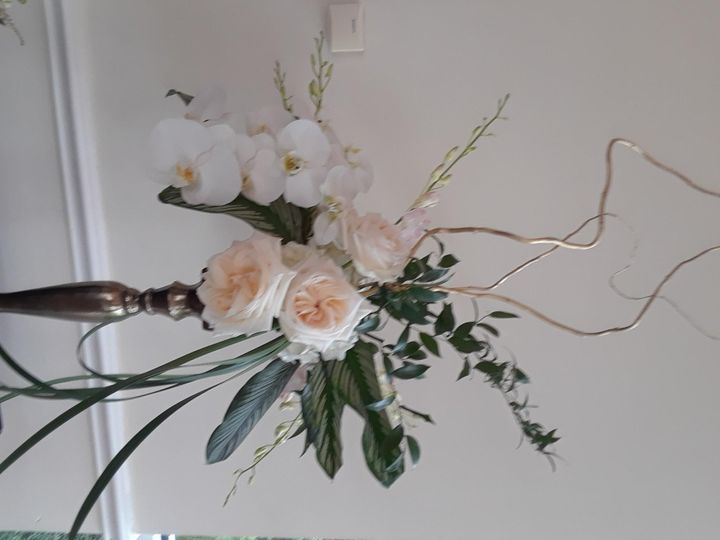 An abstract bridal bouquet