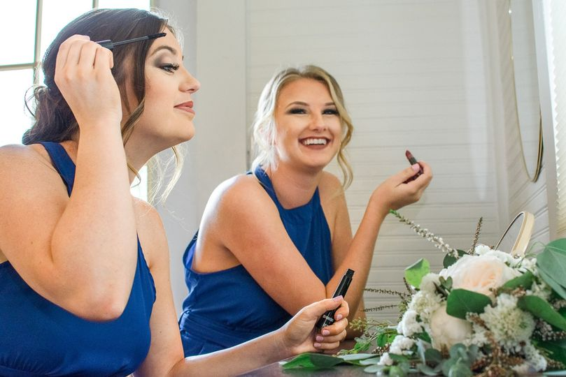 Makeup Bar in Our Bridal Suite