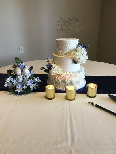 3 layered wedding cake