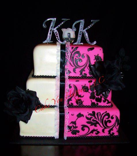 Split design cake