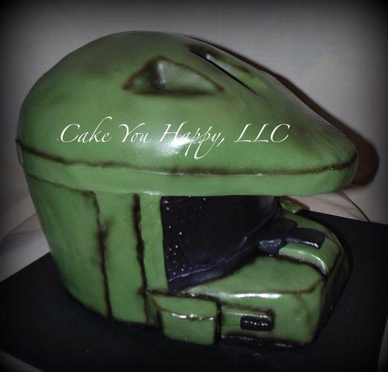 Machine inspired cake