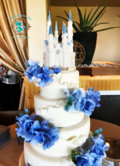Disney Castle Inspired Cake