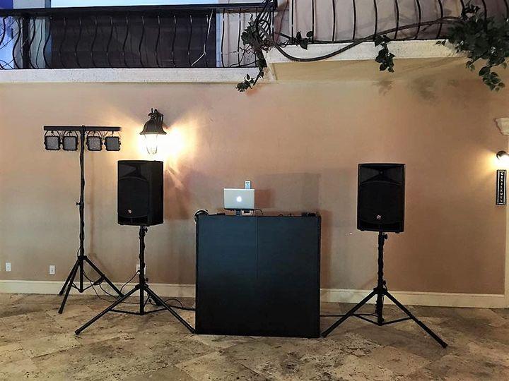 Medium booth setup
