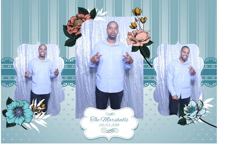 Photo booth with backdrop