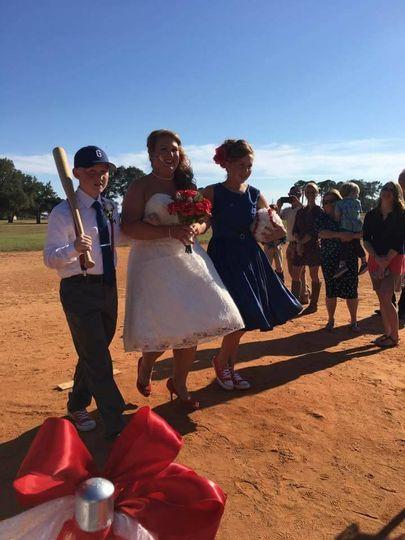 A baseball themed wedding
