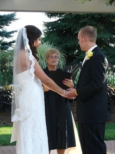 Wedding ceremony ongoing