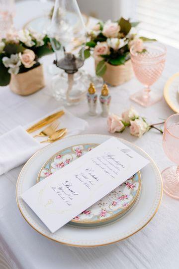Blush Pink/Gold China Setting