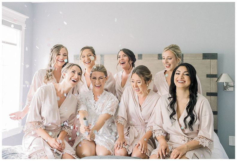 Bridesmaids and champagne!