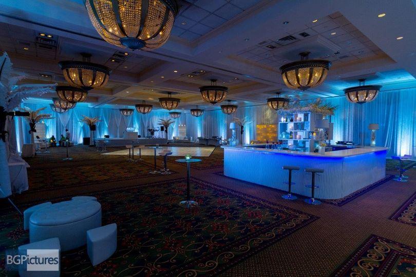 Wave Bar with blue LED lights! | Just Bars