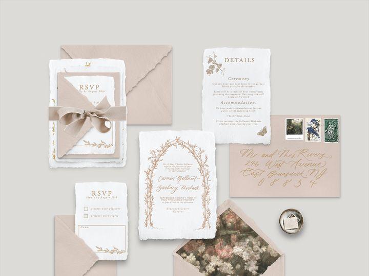 Tmx Garden Arbor Mockup 51 1943725 160999325270712 Park Ridge, IL wedding invitation