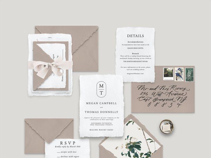 Tmx Modern Monogram 2 51 1943725 160999325214283 Park Ridge, IL wedding invitation