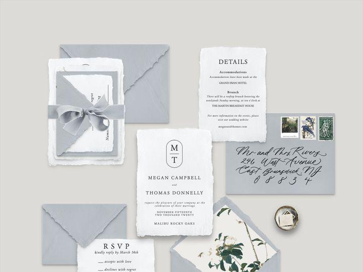 Tmx Modern Monogram Mockup 51 1943725 160999325218854 Park Ridge, IL wedding invitation