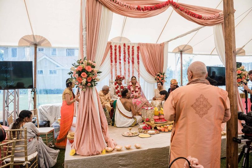 Mandap for a traditional Indian wedding