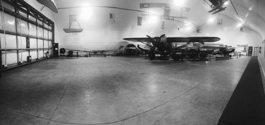 Odom Hangar black and white