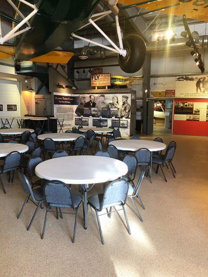 Main Hangar tables