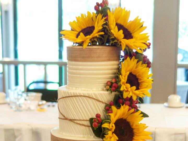 Tmx 1505913564727 Rustic Sunflower Wedding Cake  Westport, Rhode Island wedding cake