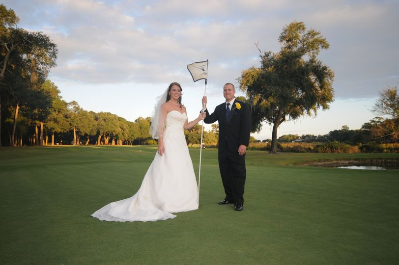 Golf course poses
