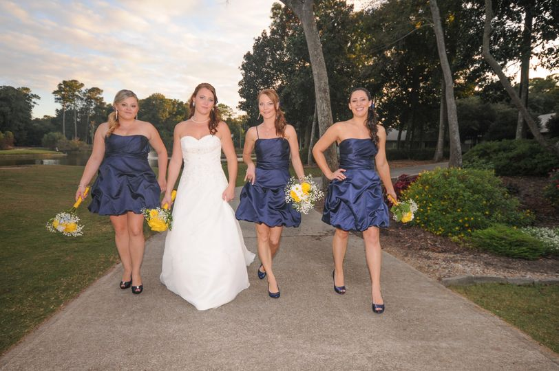 Friends of the newlywed