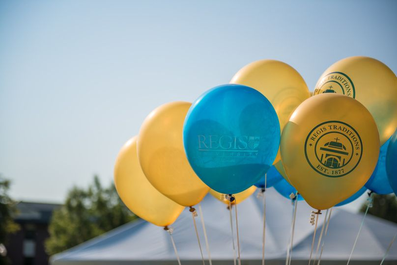 Yellow and blue balloons