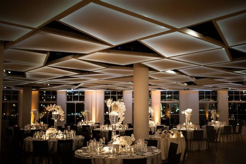 Reception lighting and decor