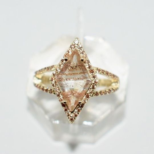 Gold Dusted Kite Ring