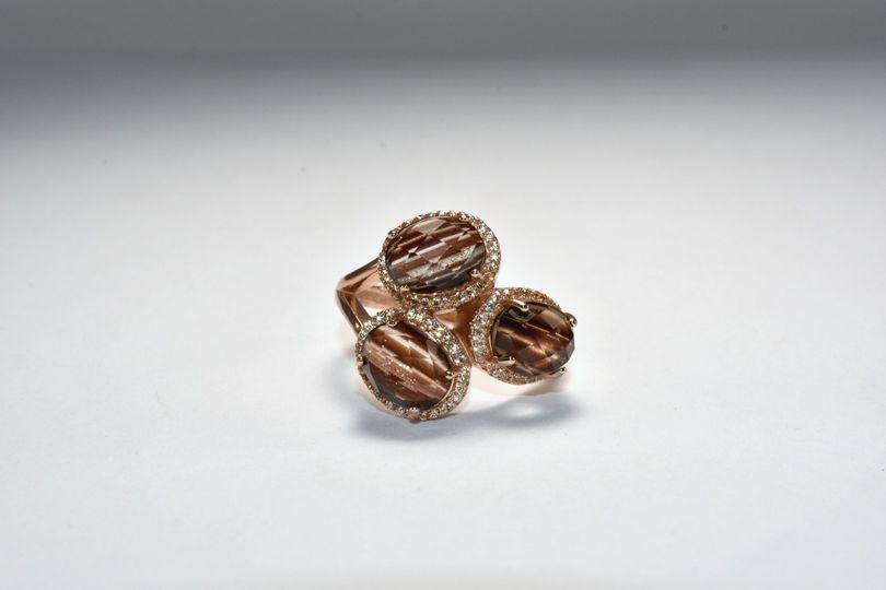 3 Stone Cocktail Ring