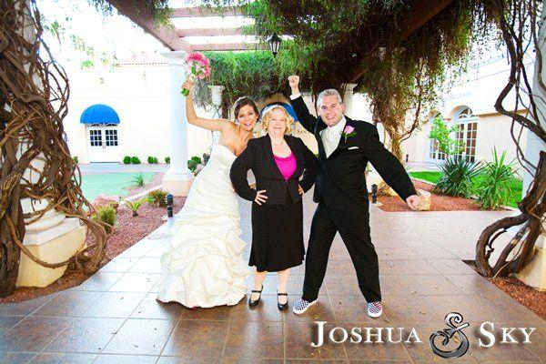 Truly a fun wedding- photo by Joshua Sky photography