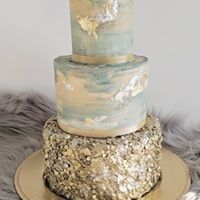 Gold and silver industrial cak