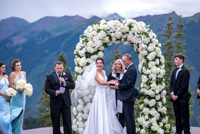 A Flower Arch with a View