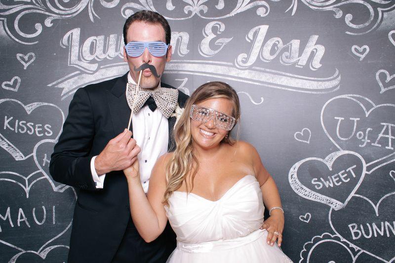 Newlyweds with masks