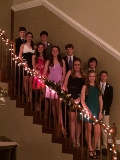 lexie and friends for sweetheart dance 2014