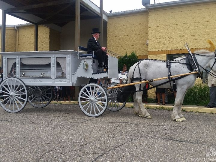 Tmx Horse Drawn Funeral Coach 093 51 63825 Wellsville, Ohio wedding transportation