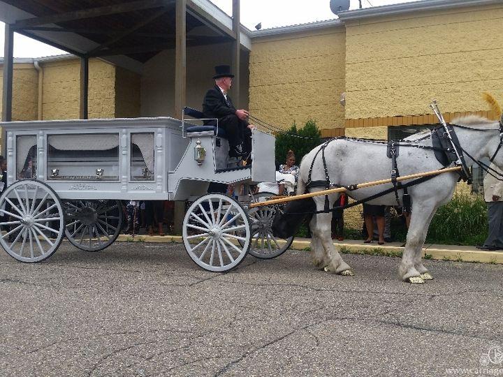 Tmx Horse Drawn Funeral Coach 093 51 63825 Wellsville, OH wedding transportation