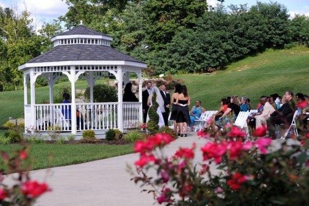 Summer wedding on a golf course