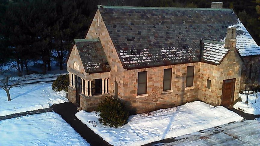 chapel aerial winter