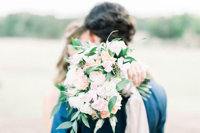 Kissing bride