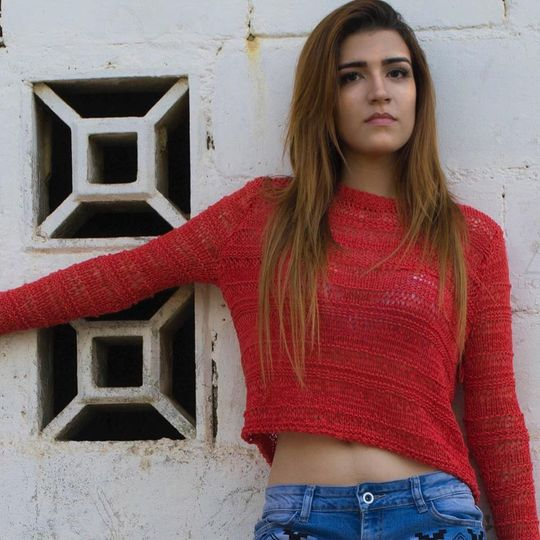 Photo shoot red sweater