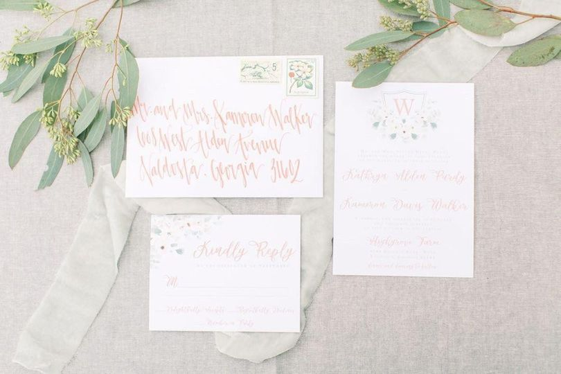 Romantic invitation design