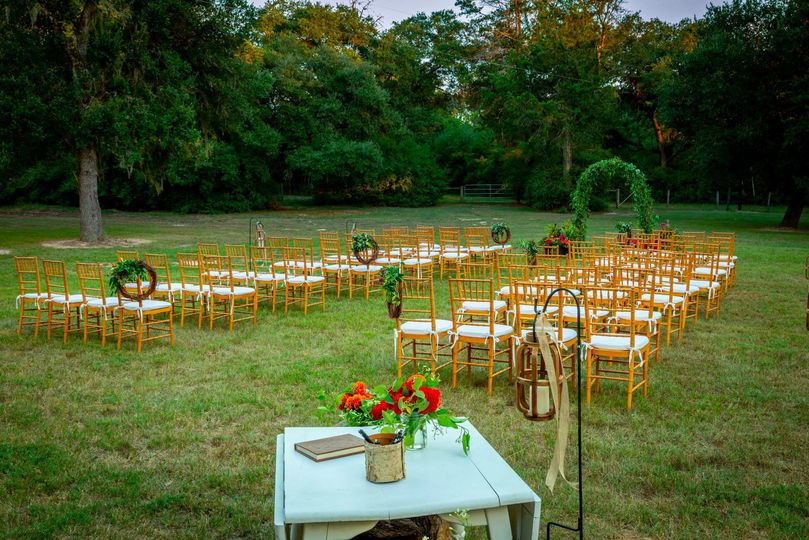 Plush ceremony seats