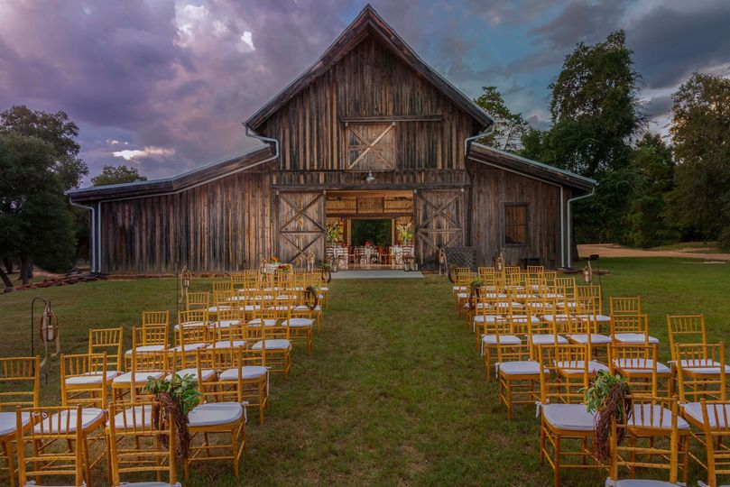 Ceremony by the barn