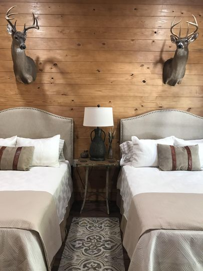 Guest house with deer decor